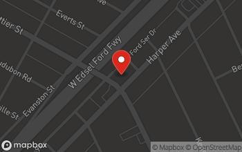 Map of 16511 Harper Ave. in Detroit