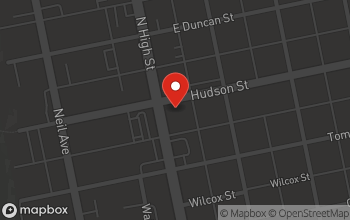 Map of 2556 North High Street in Columbus