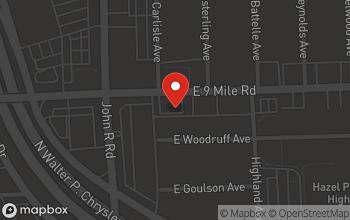Map of 300 E 9 Mile Road in Hazel Park