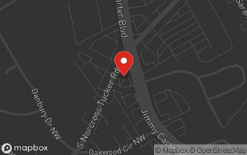 Map of 5260 Jimmy Carter Blvd. in Norcross