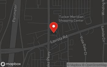 Map of 4270 La Vista Road in Tucker