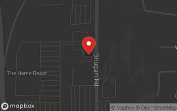 Map of 883 Shugart Road in Dalton