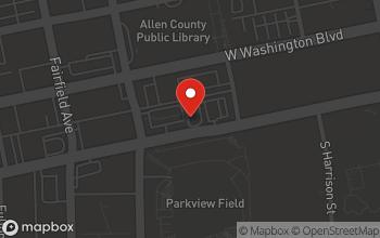 Map of 320 W Jefferson Blvd. in Fort Wayne