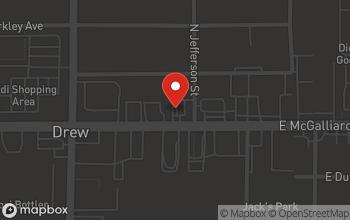 Map of 220 East McGalliard Street in Muncie