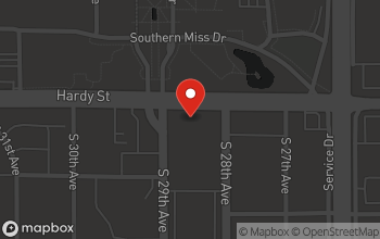 Map of 2806 Hardy Street in Hattiesburg