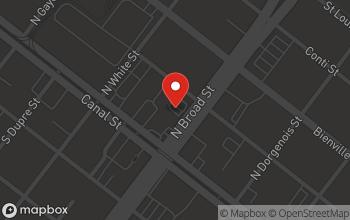 Map of 131 N. Broad Street in New Orleans