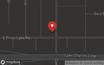 Map of 521 E. Prien Lake Road in Lake Charles