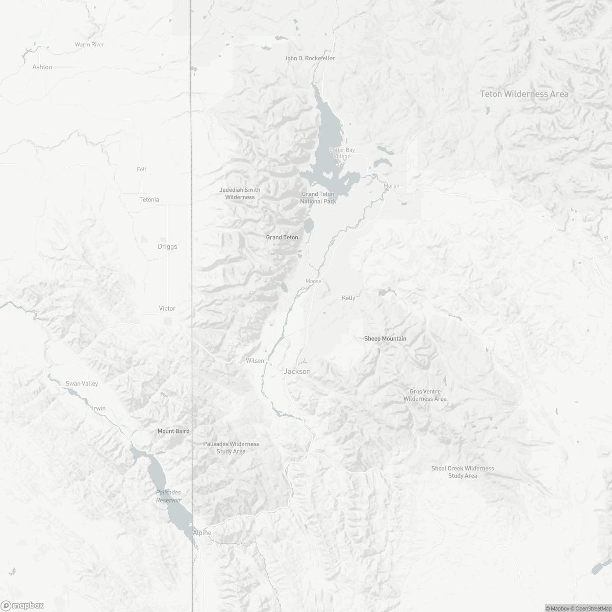 Map of Jackson Hole Airport JAC surrounding area of Jackson Wyoming