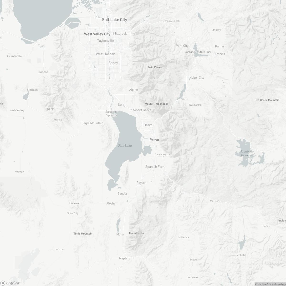 Map of Provo Municipal Airport PVU surrounding area of Provo Utah