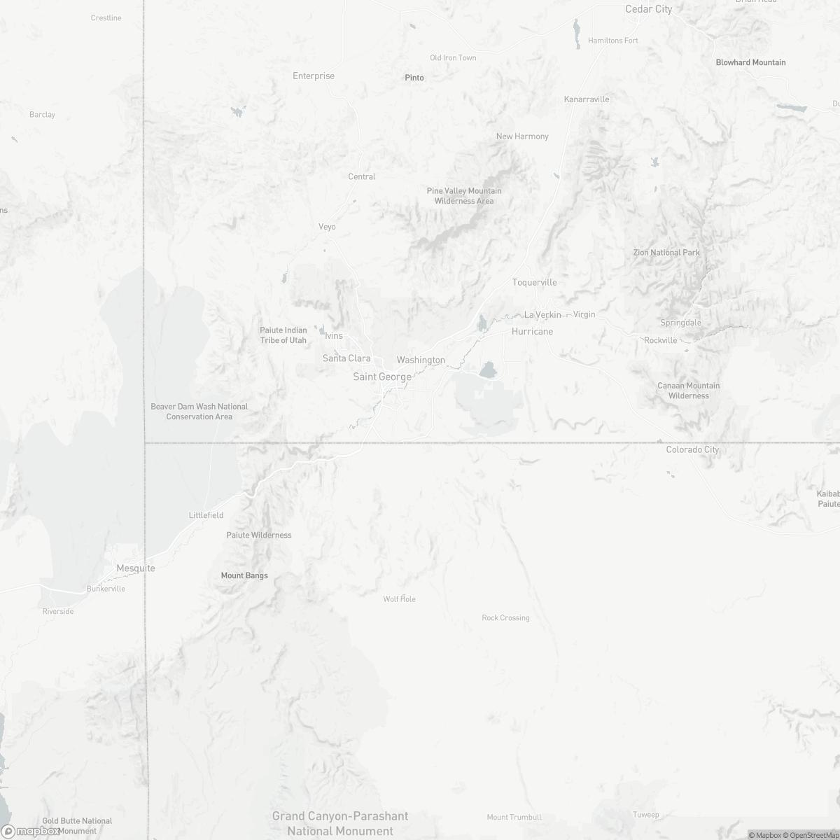 Map of St George Regional Airport SGU surrounding area of St George Utah
