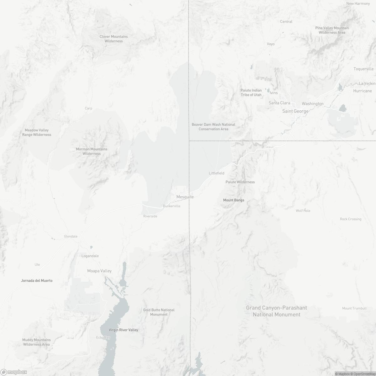 Map of Mesquite Airport 67L surrounding area of Mesquite Nevada