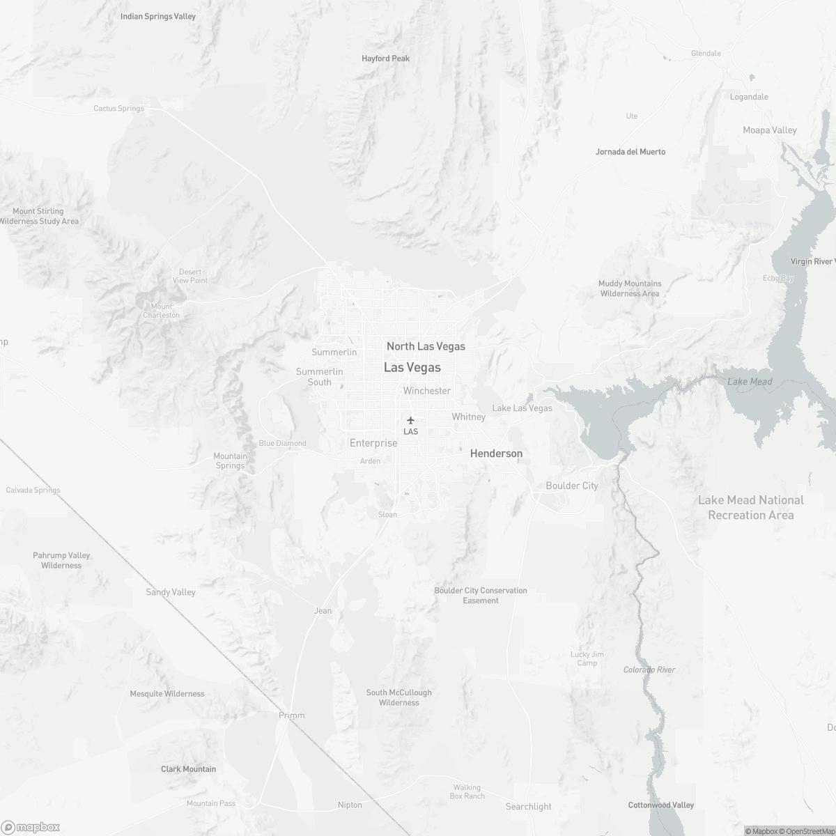 Map of Las Vegas Airport LAS surrounding area of Las Vegas Nevada