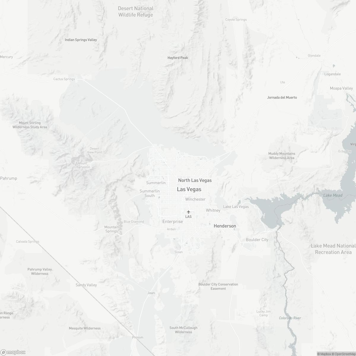 Map of North Las Vegas Airport VGT surrounding area of Las Vegas Nevada