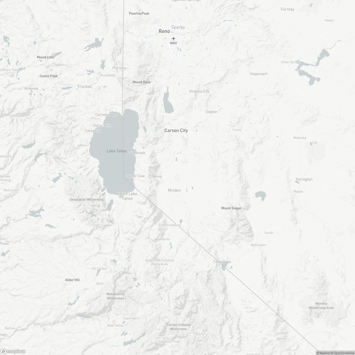 Map of Minden-Tahoe Airport MEV surrounding area of Minden Nevada