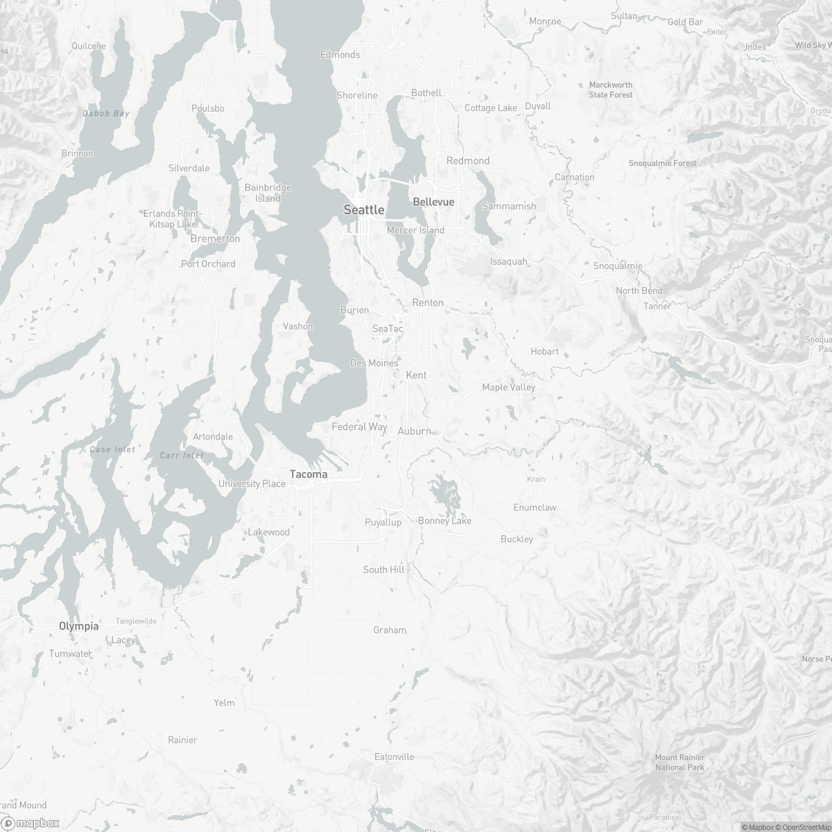 Map of Auburn Municipal Airport S50 surrounding area of Auburn Washington