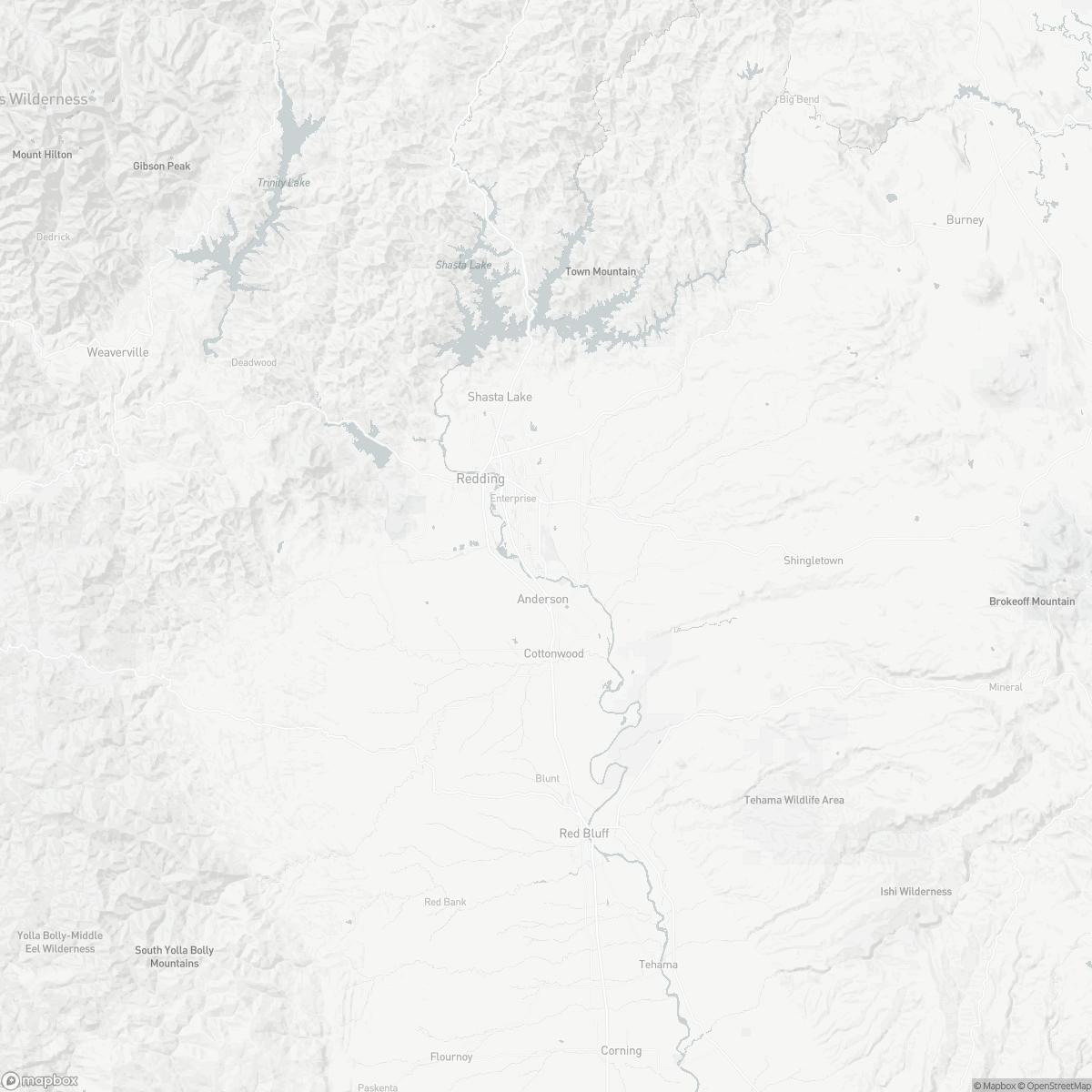 Map of Redding Municipal Airport RDD surrounding area of Redding California