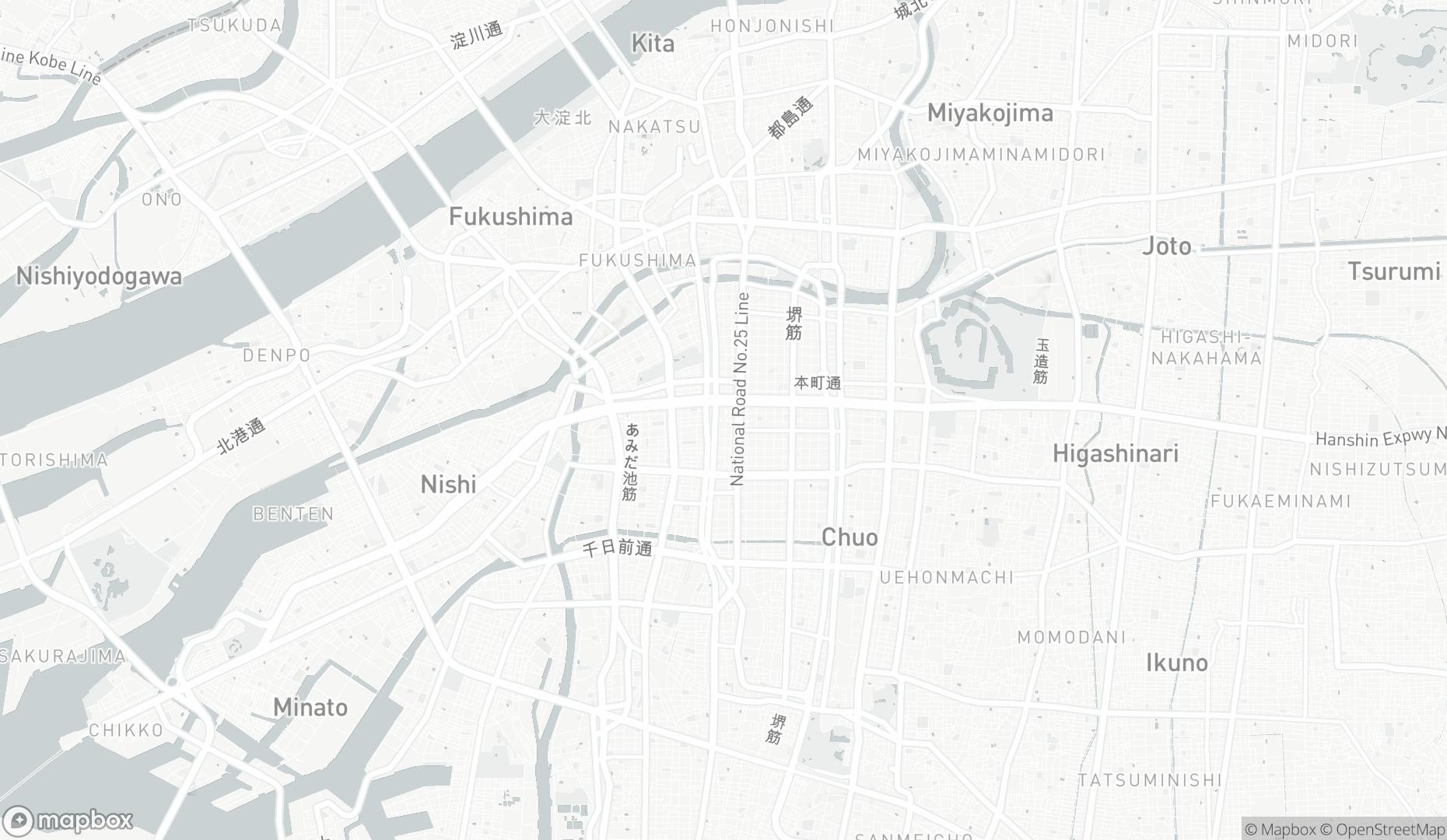 Map of 日本テラデータ株式会社 大阪オフィス