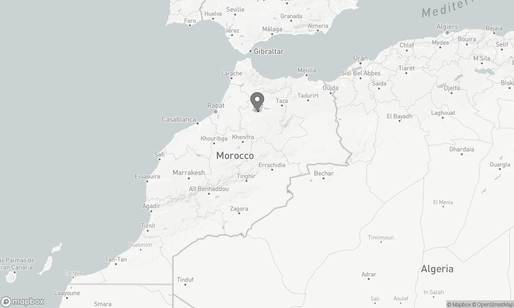 Map of Morocco with locations of artisans across the country