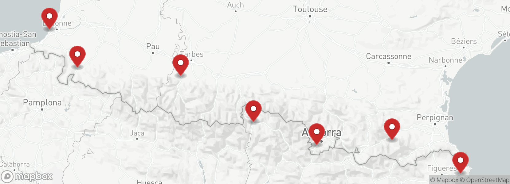 Itinerary Motorcycle tour France Pyrénées
