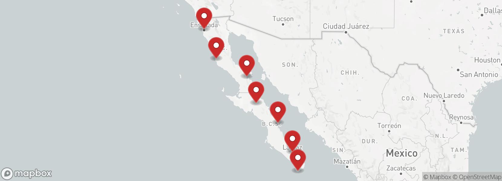 Itinerário Motorcycle tour Baja California Enduro KTM in México (8 days)