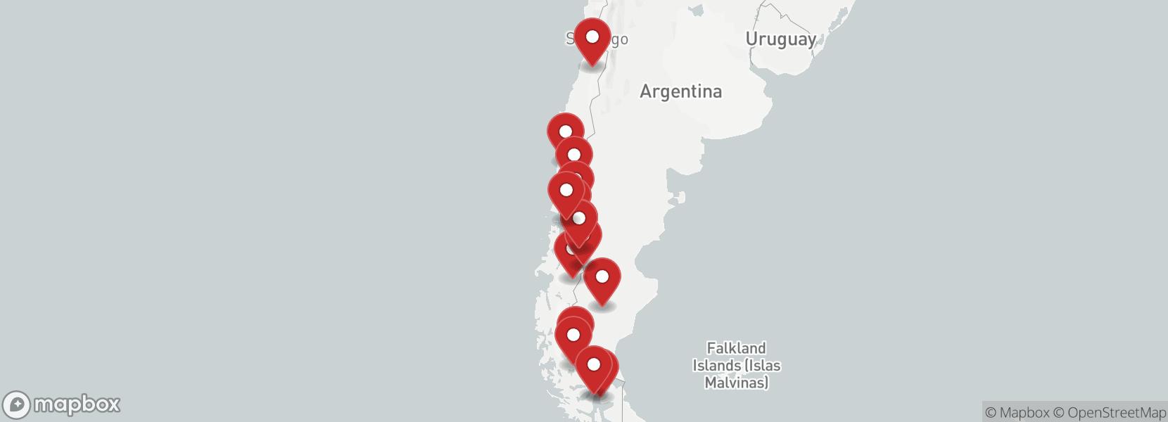 Itinerário Motorcycle tour Patagonia from Osorno to Punta Arenas guided