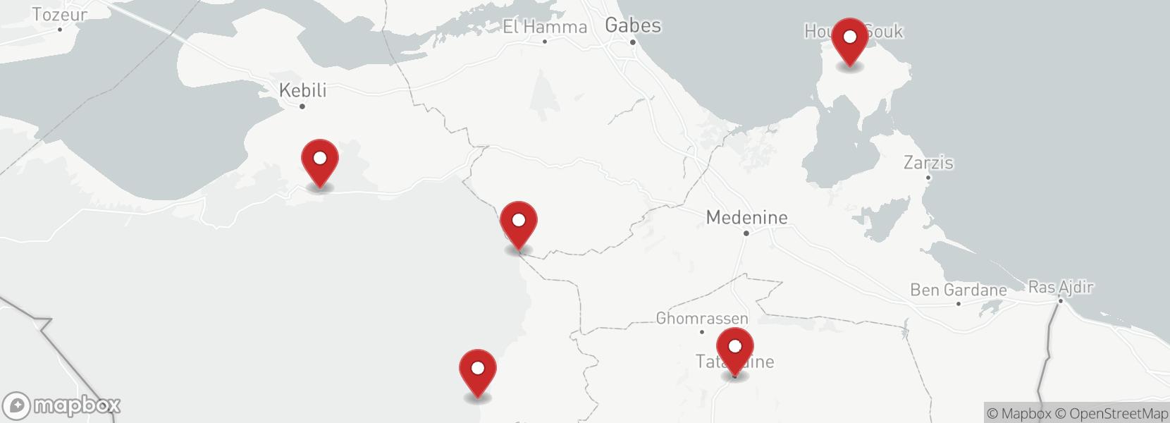 Itinerary Motorcycle tour Short Tunisia