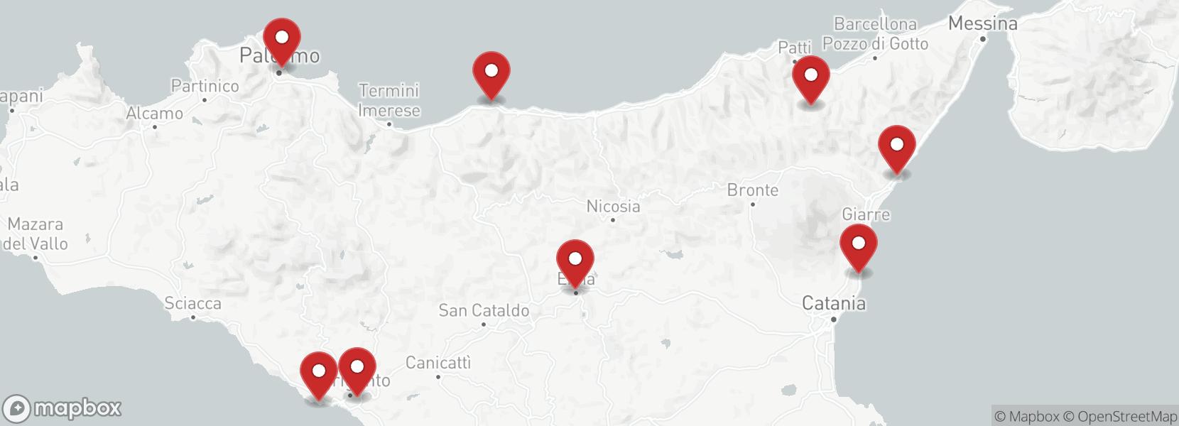 Itinéraire Voyage en moto Italie, Sicile, La terre du soleil