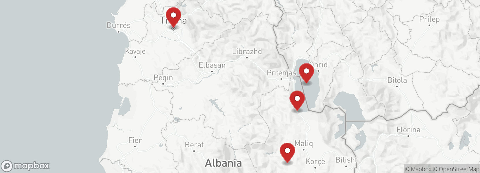 Itinerary Motorcycle tour enduro Albania