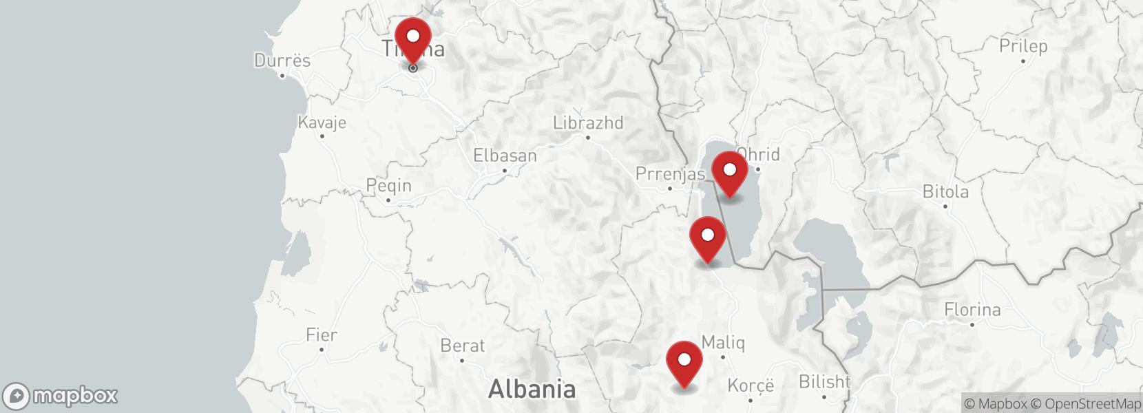 Itinerario Viaggio in moto enduro Albania enduro