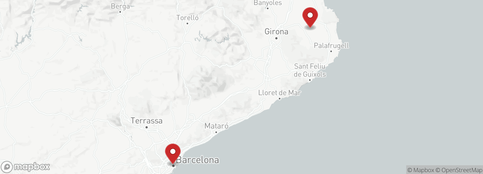 Itinerary Motorcycle tour Emporda on sidecar Royal Enfield. Special couples.
