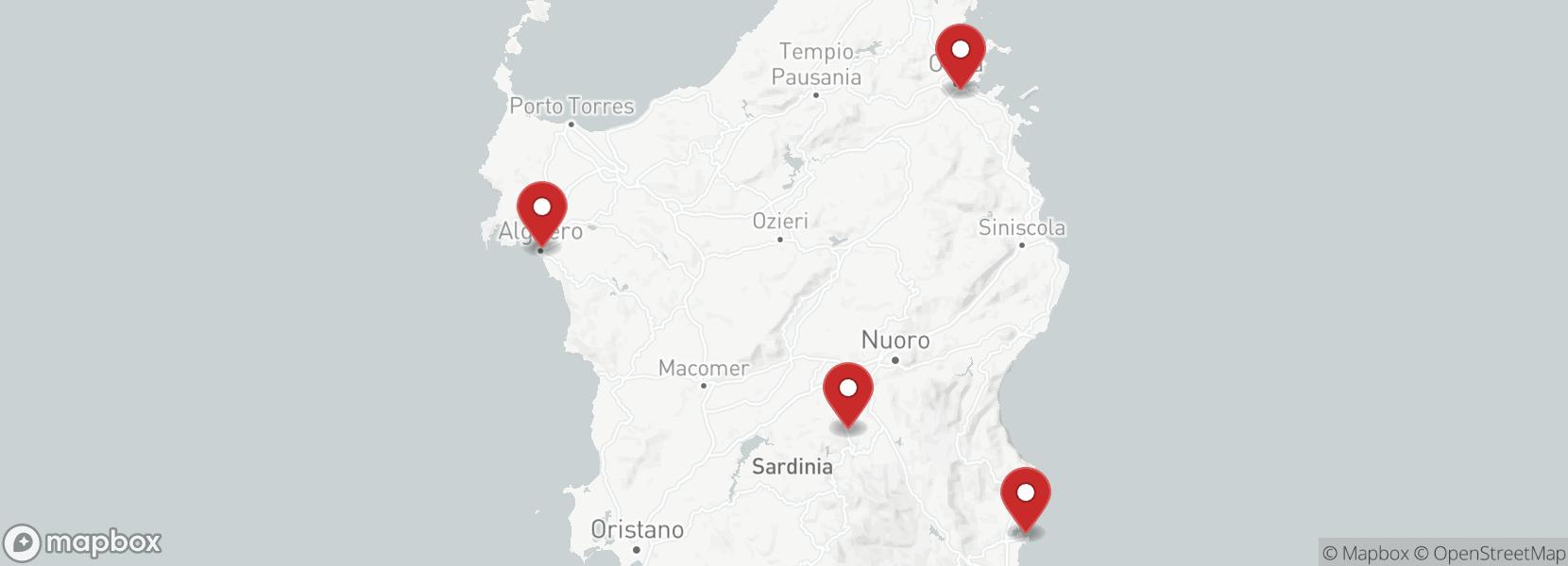 Itinerary Motorcycle tour Italy Sardinia Self Drive