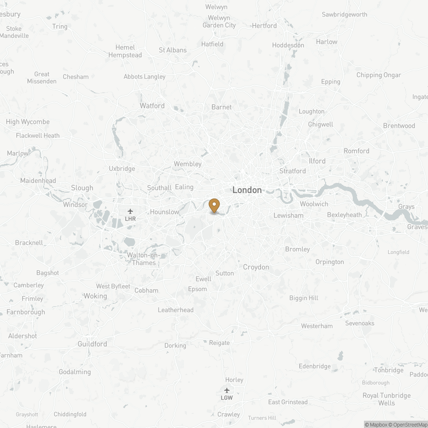 Map of Putney, England