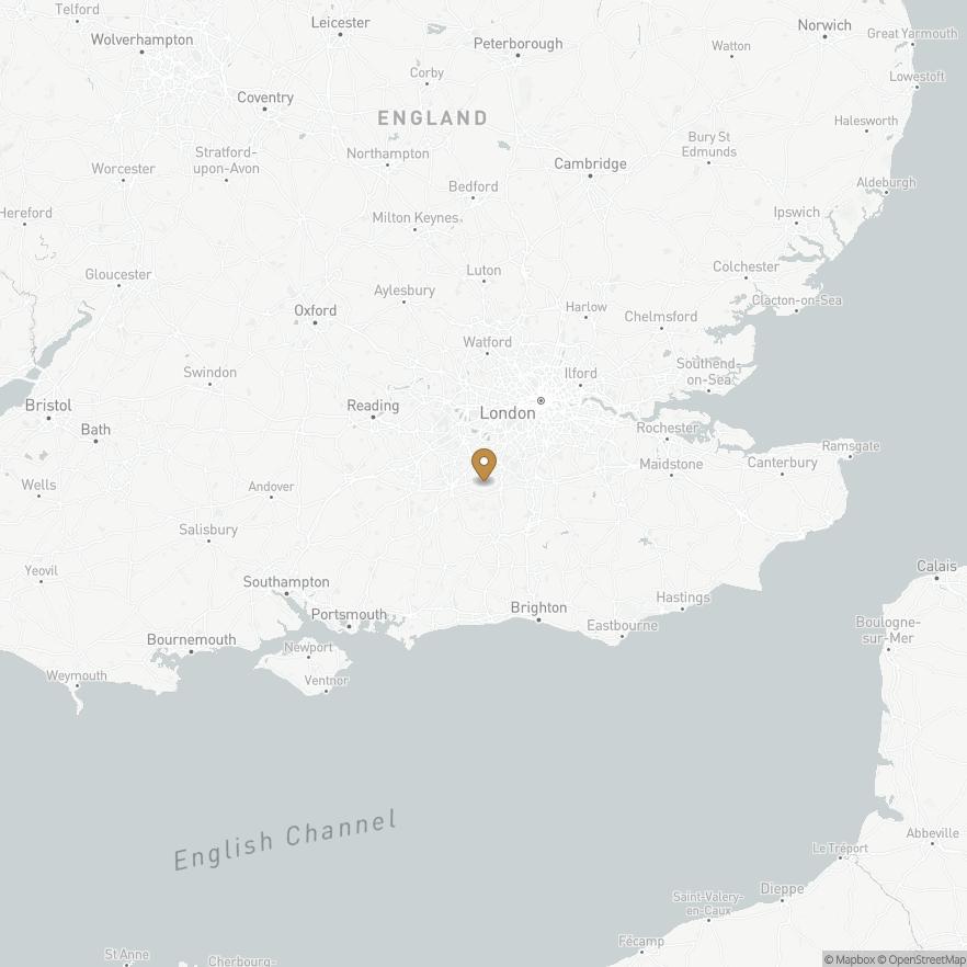 Map of Surrey, England