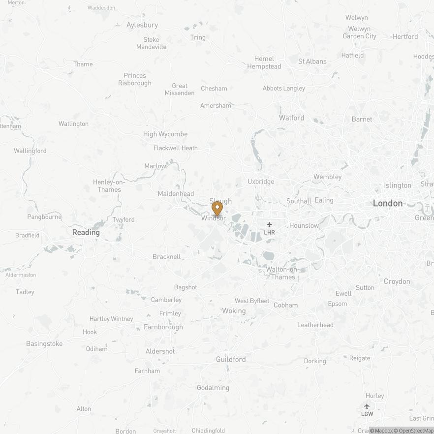 Map of Windsor Castle, England