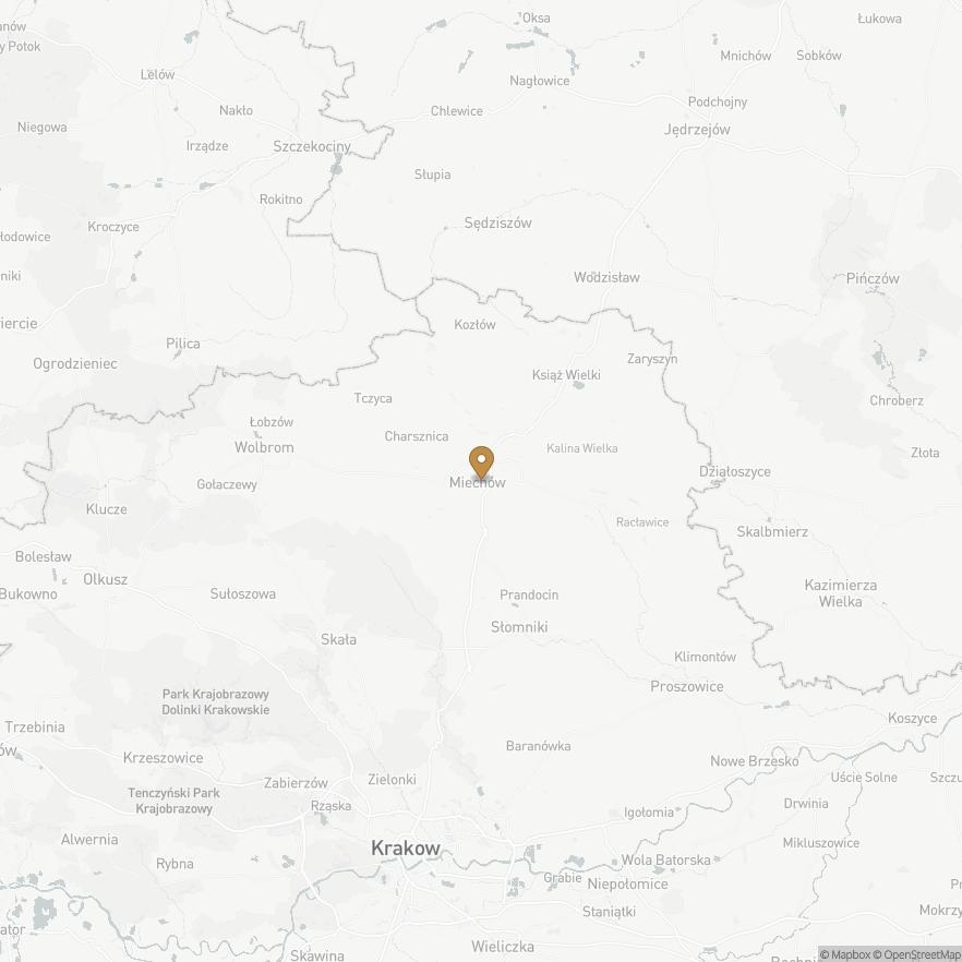 Map of Miechów, Polska