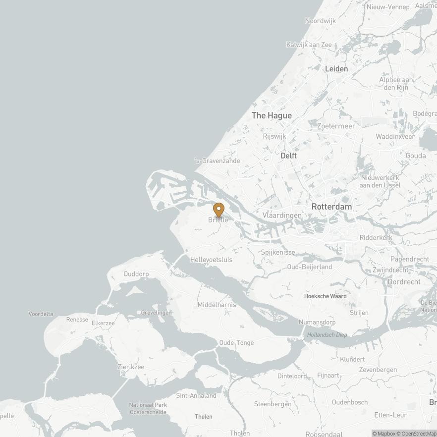 Map of Brielle, Nederland