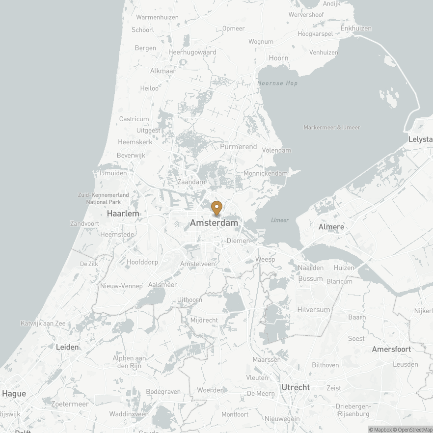 Map of Amsterdam, Nederland