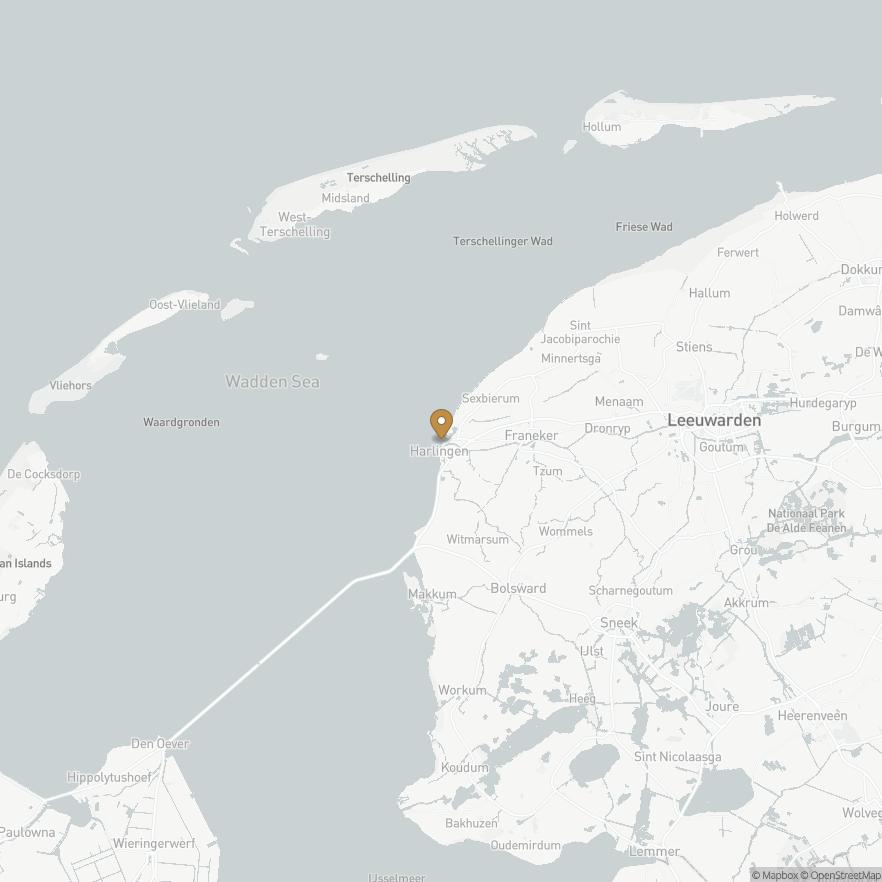 Map of Harlingen, Nederland
