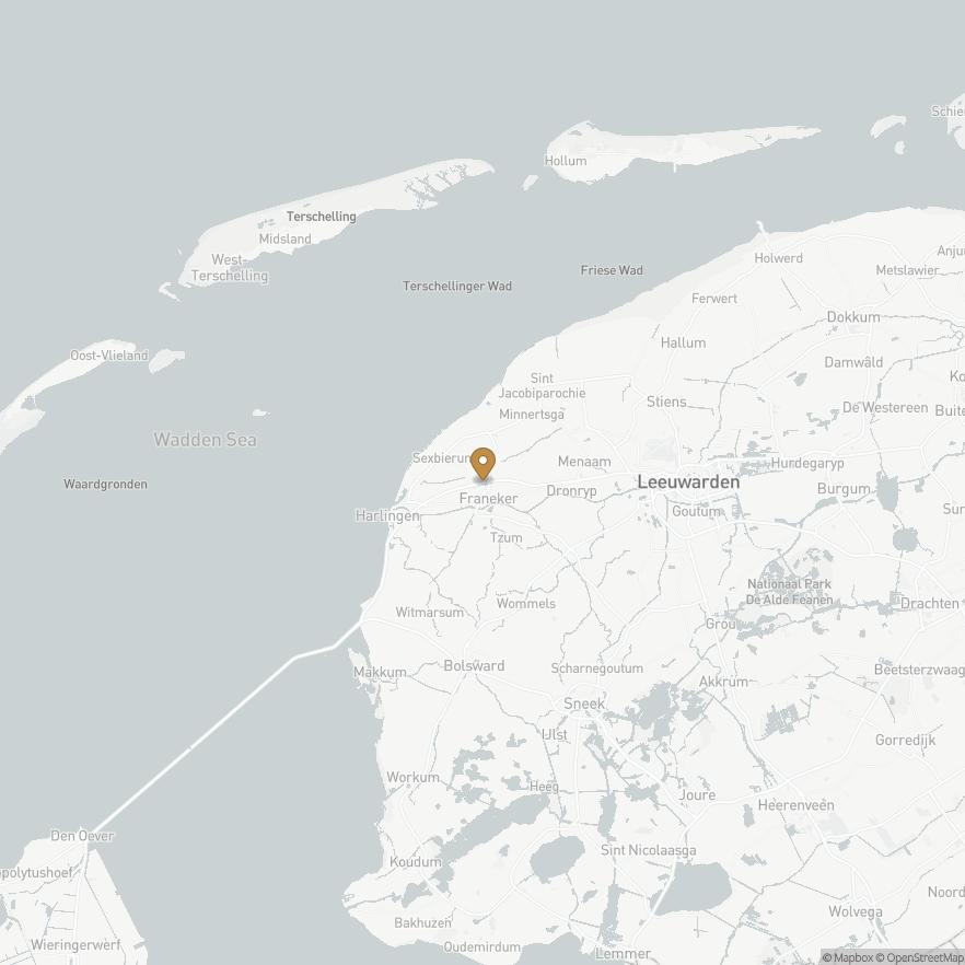 Map of Franeker, Nederland