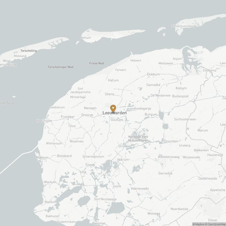 Map of Leeuwarden, Nederland