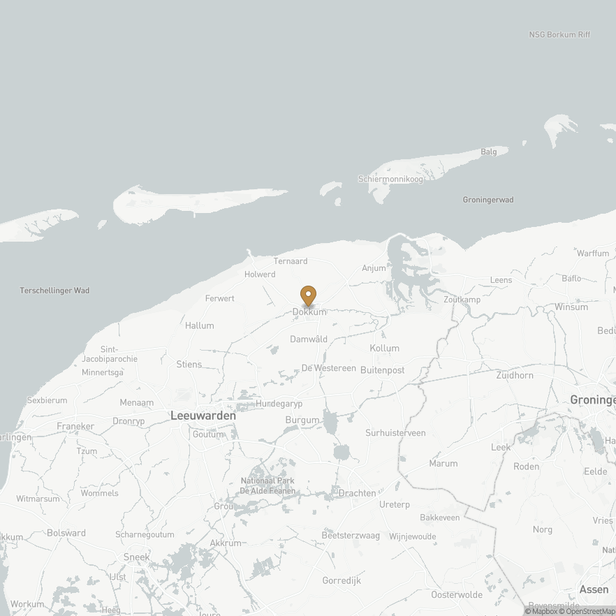 Map of Dokkum, Nederland