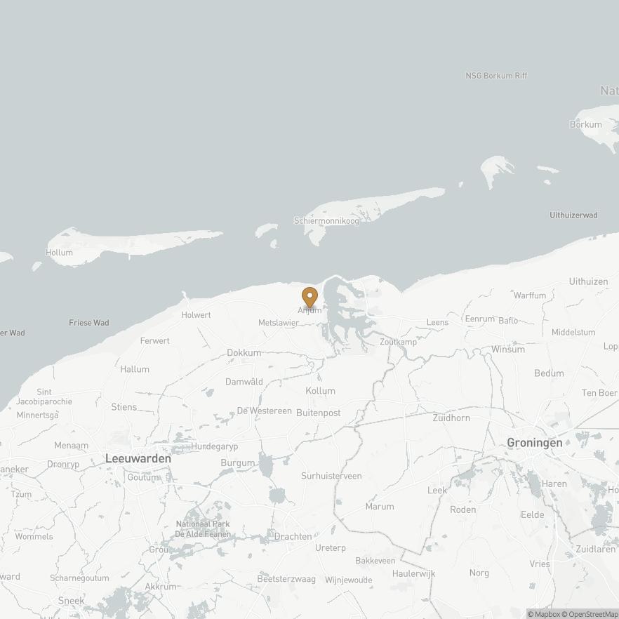 Map of Anjum, Nederland