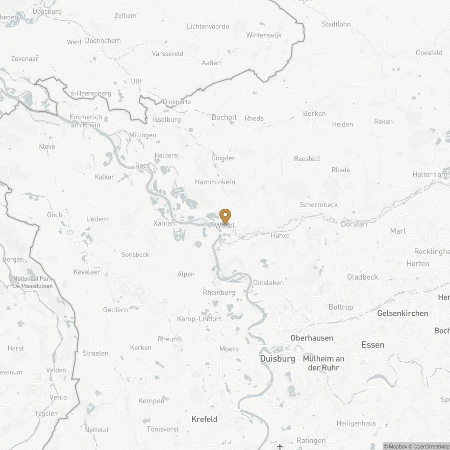 Map of Wesel, Deutschland