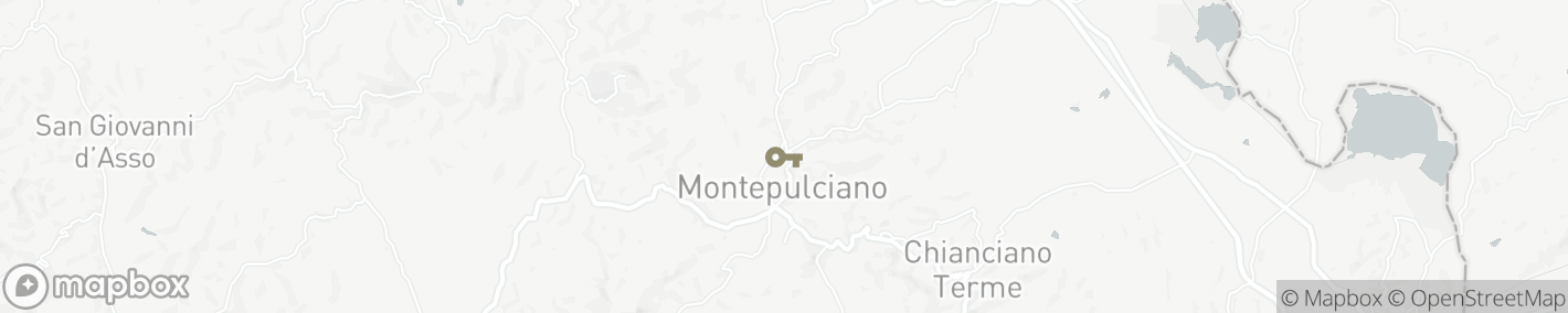 Ligging Montepulciano