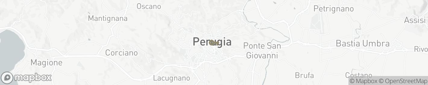 Ligging Perugia