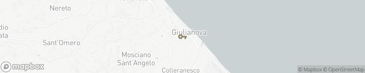 Ligging Giulianova