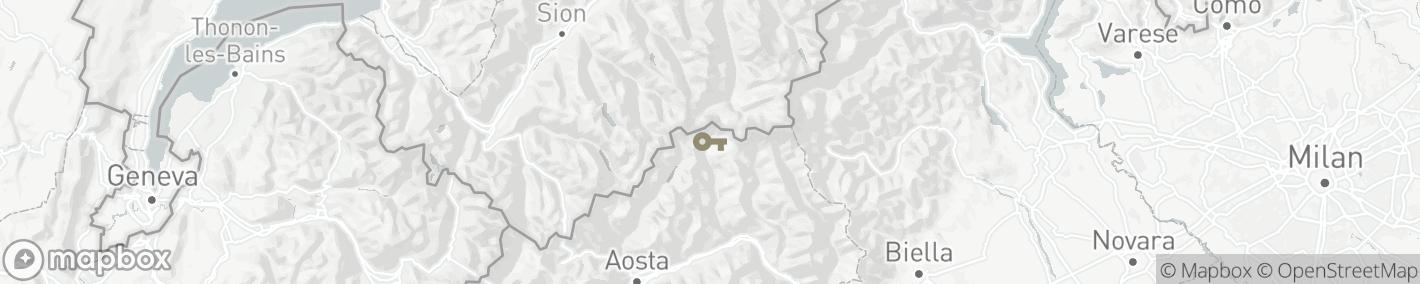 Ligging Breuil-Cervinia
