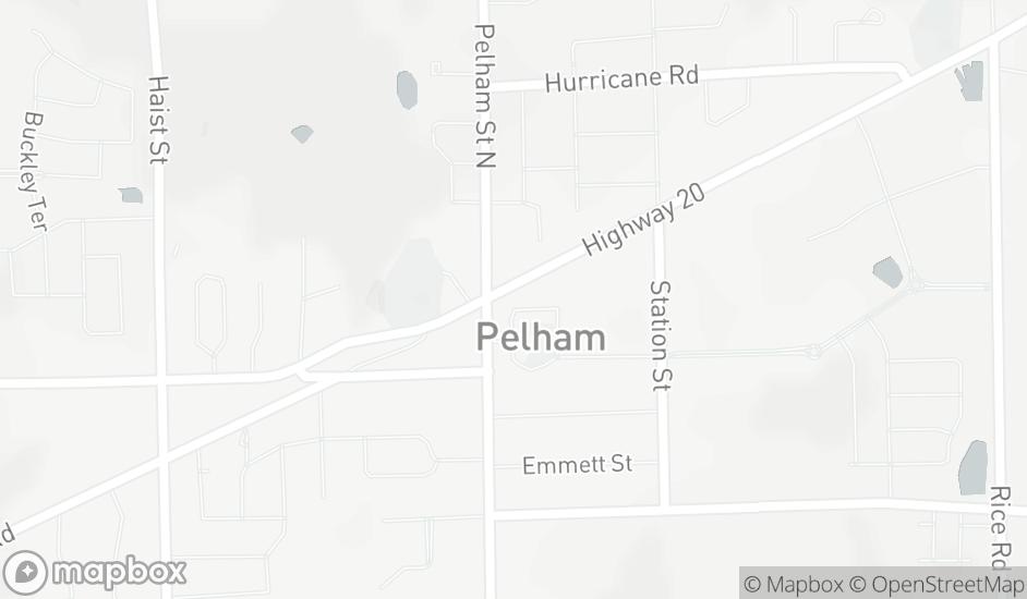 Map centered on Borderview Animal Hospital 4 Hwy 20 E Fonthill, ON L0S 1E0