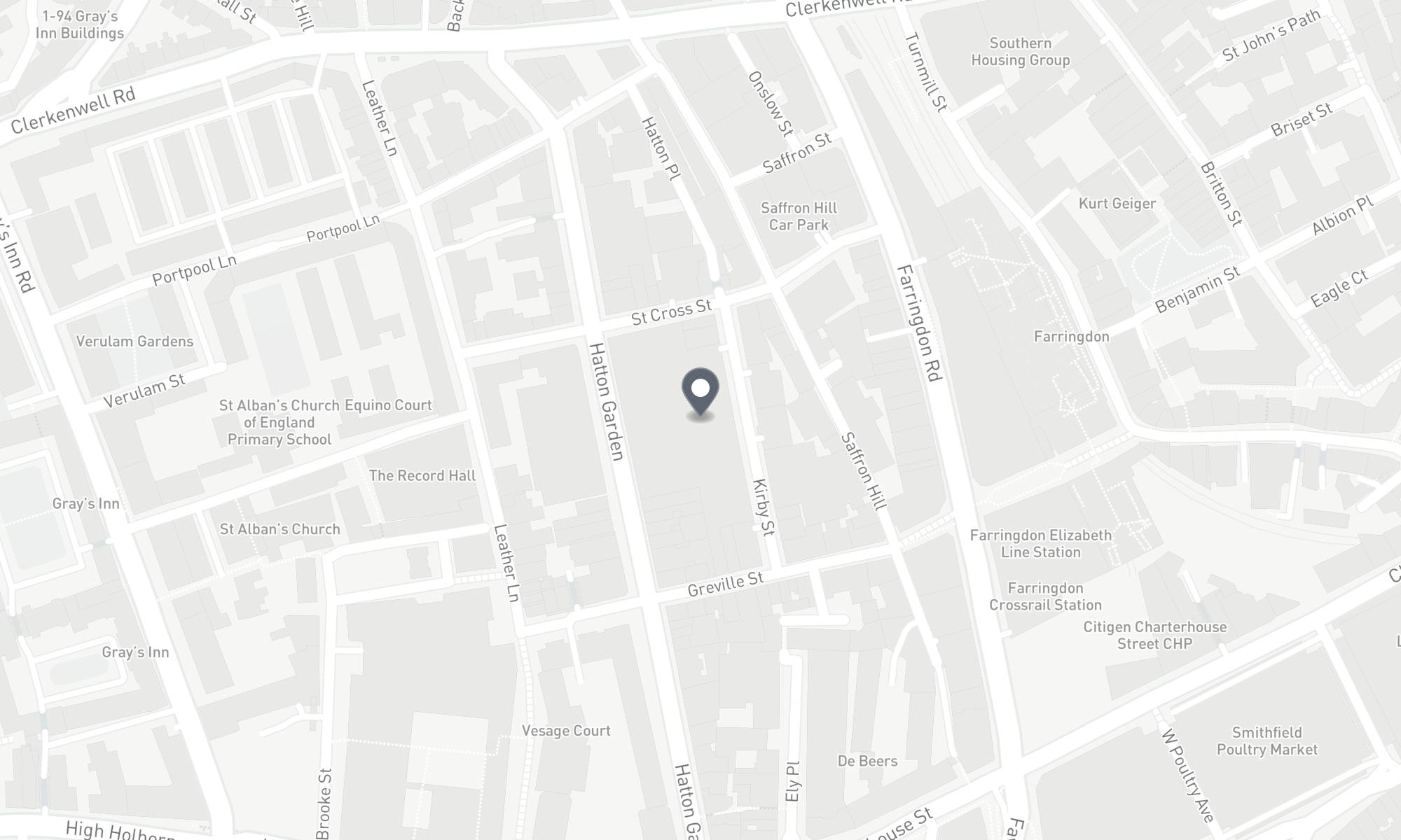 static Mapbox map of the London CPMG office