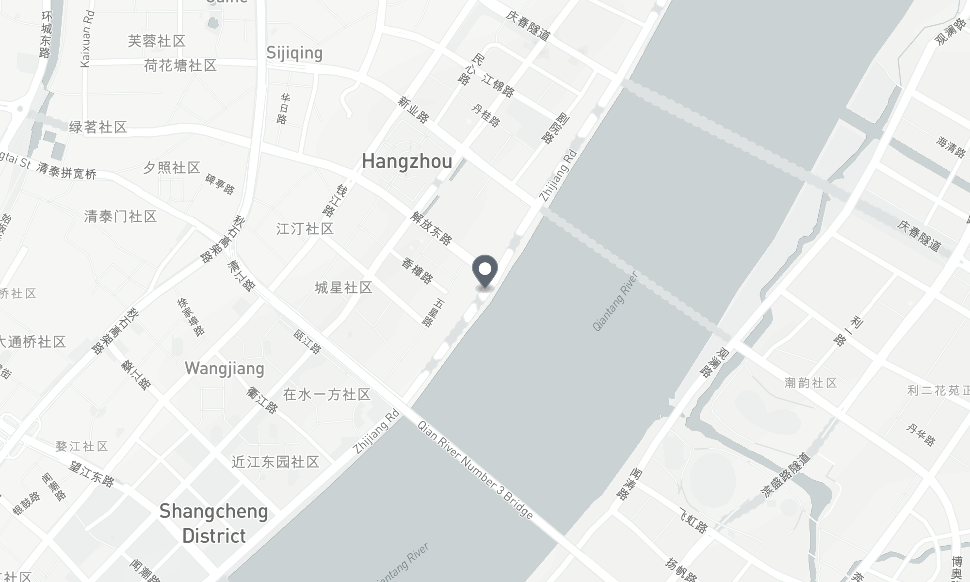 static Mapbox map of the Hangzhou, China CPMG office
